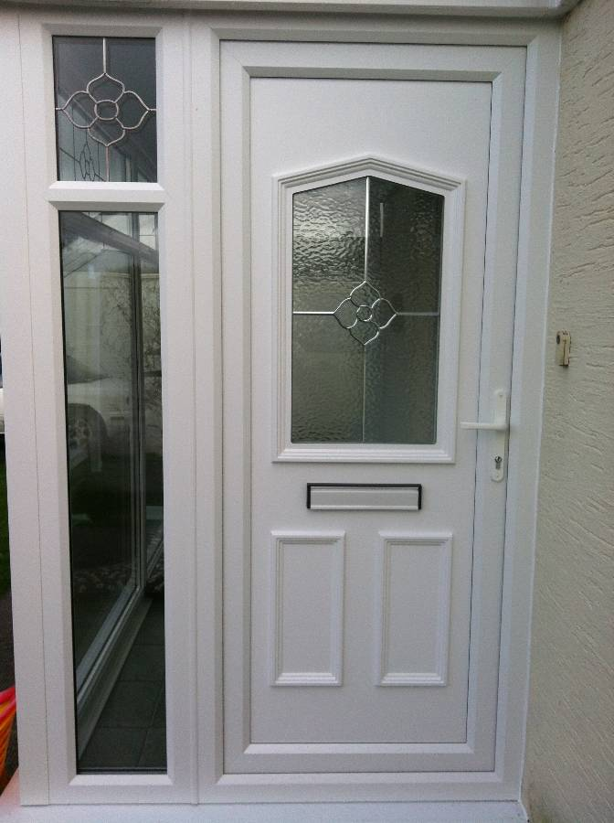 ... Front Door With Decorative Panel With Matching Decorative Glass ... & Window Manufacturers in Cornwall : Newquay Plastic