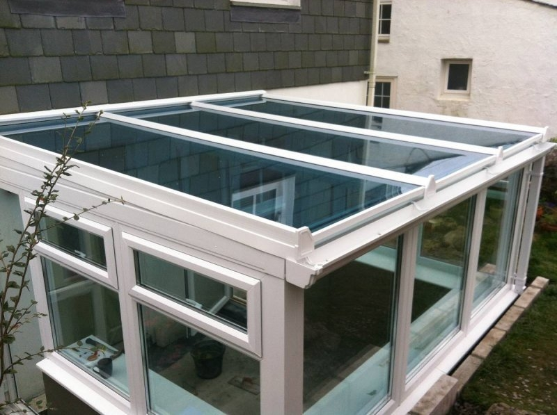 Lean To Glass Roof Conservatory With Retaining Wall 3