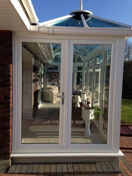 P Shaped Glass Roof Conservatory With Pitched Roof Modification 1