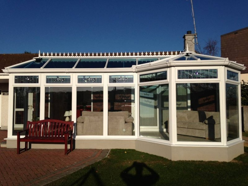 P Shaped Glass Roof Conservatory With Pitched Roof Modification 4