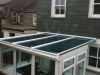 Lean To Glass Roof Conservatory With Retaining Wall 4