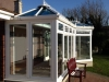 P Shaped Glass Roof Conservatory With Pitched Roof Modification 2