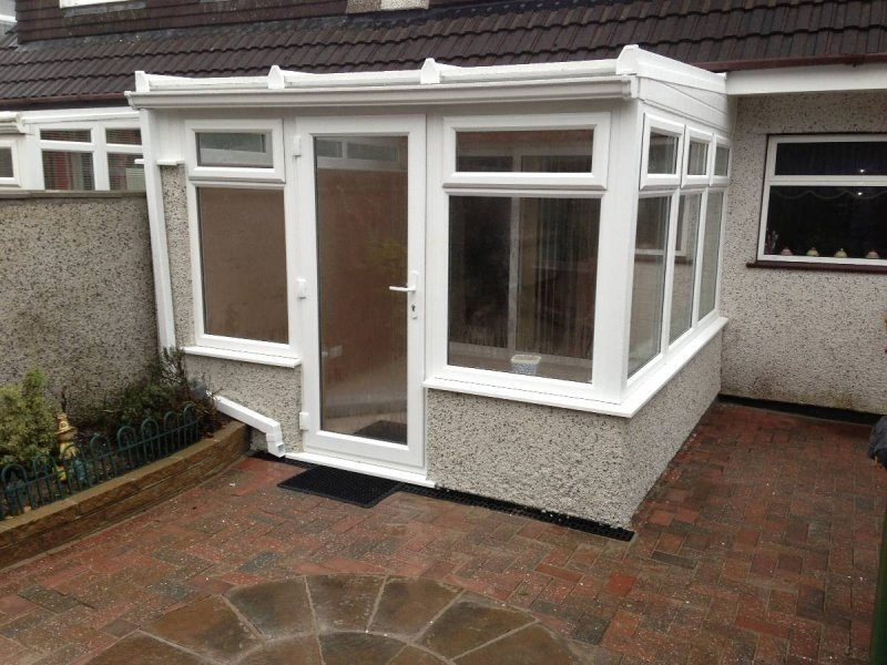 White PVC Lean To Conservatory 1
