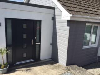 cladding and door