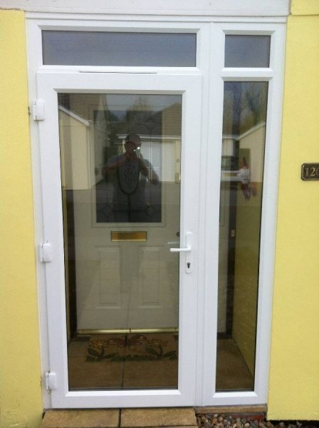 Fully Glazed PVC Residential Door And Side Panel