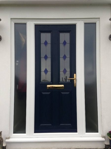 Blue Composite Door And Double Side Panels