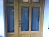 Bespoke Design Irish Oack Door And Side Panel With Etched Sandblasted Glass