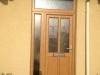 Bespoke Design Irish Oack Door And Side Panel With Coloured Leaded Glass