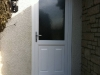 White PVC Residential Door With Decorative Lower Panel