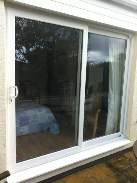 White PVC Sliding Patio Doors