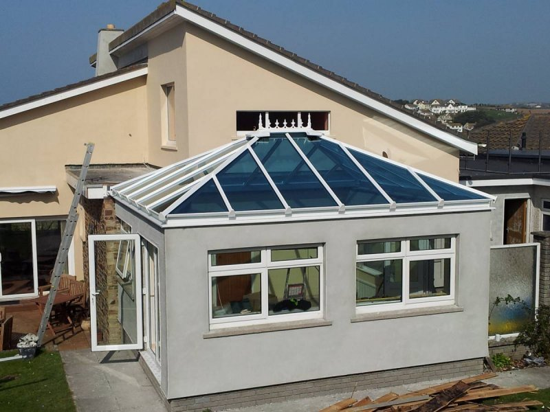 Flat Roof To Glass Roof Conversion 3