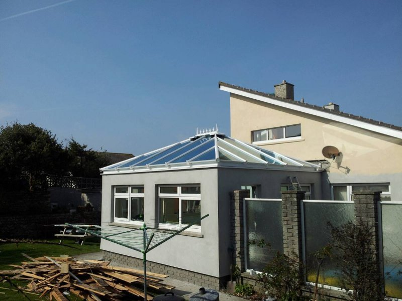 Flat Roof To Glass Roof Conversion 4