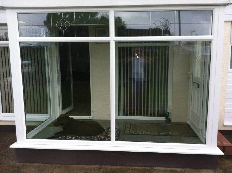 Porch With Decorative Glass Designs 2