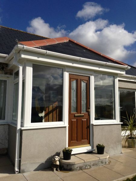 Porch With Tiled Roof And Composite Door 1