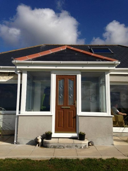 Porch With Tiled Roof And Composite Door 2