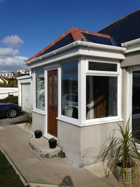 Porch With Tiled Roof And Composite Door 4