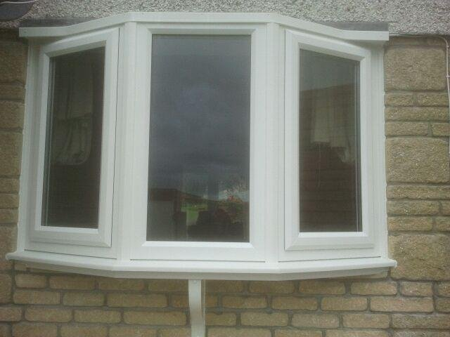 White PVC 3 Part Bay Window