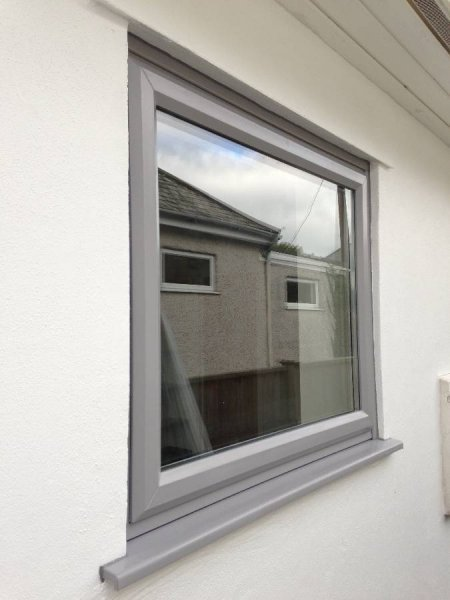 Bespoke Colur Grey PVC Window