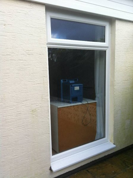 Full Height Top Opening Window In White PVC