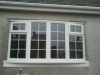 White PVC 4 Part Bay Window With Georgian Bars