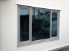 Bespoke Colur Grey PVC Window With Blue Glass 2